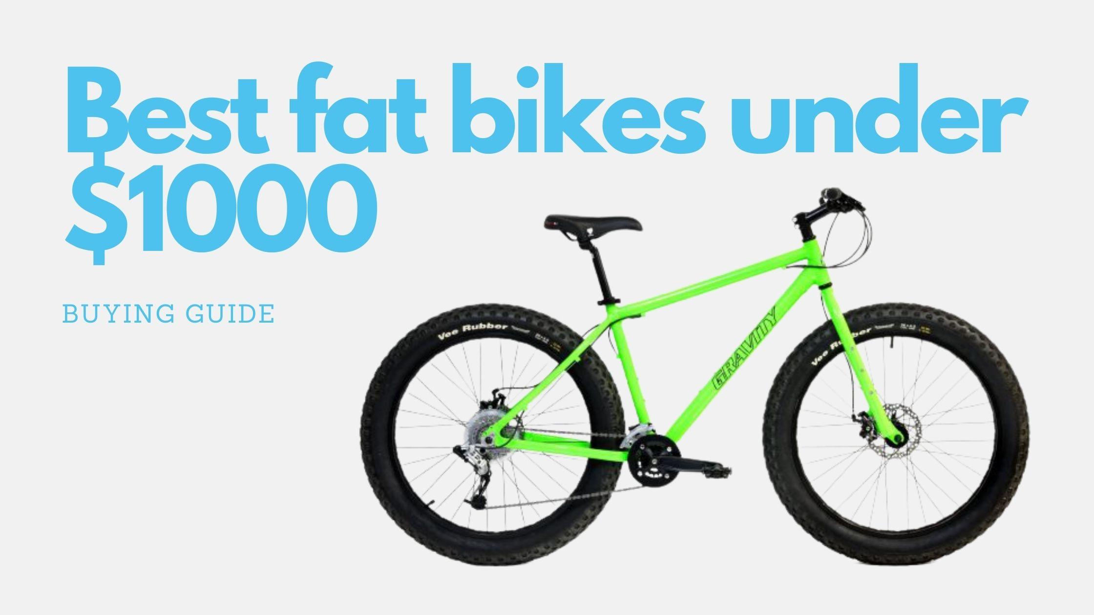 10 Best fat bikes under $1000